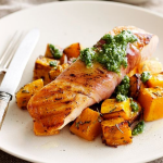 Salmon with Pesto & Pumpkin